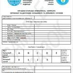 Образец сертификата на дисплазию