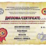 Диплом Чемпиона Македонии