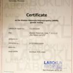Сертификат обследования на Полинейропатию